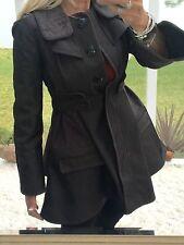 Zac Posen Coat Brown Stylish Winter Trench Stunning Size8