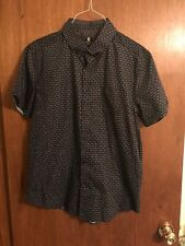 NWT'S - Steel & Jelly London Men's Button Front SHORT SLEEVE SHIRT W/CUFFS $49.