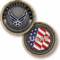 NEW USAF U.S. Air Force Veteran Challenge Coin.