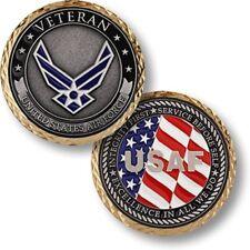 NEW USAF U.S. Air Force Veteran Challenge Coin.