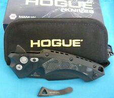 "Hogue Knives X-5 Spear Point Flipper Pocket Knife Black, 4"" 34559"