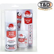 INSTANT BOND MITRE KIT 50g SUPER GLUE AND 200ml ACTIVATOR