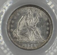 1838 Seated Liberty Half Dime H10C PCGS AU 55 No Drapery Old Green Label OGH