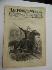 1864 Harper's Weekly March 19 General George Armstrong Custer by Brady on Cover