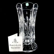 PartyLite P7523 Signature Crystal Hurricane 24% Full Lead Taper Candle Holder