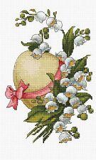 LUCA-S  B113  L'œuf de Pâques et muguet  Kit  Broderie  Point de croix  Compté