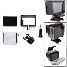 BacPac Frame Mount+Waterproof Backdoor Case+LCD Screen+Buckle for GoPro Hero3+ 4