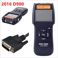 2016 New Autos Fault Code Reader D900 OBD2 EOBD CAN Diagnostic Scanner Kit Black