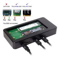 Thunderbolt 3 to Dual NVME AHCI NGFF M-Key SSD Raid Docking & Displayport