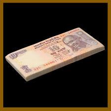 India 10 Rupees x 100 Pcs Bundle, 2009 P-95 Gandhi Unc