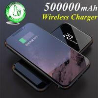 2019 Mirror Power Bank 500000mAh Qi Wireless Charger Portable  External Battery