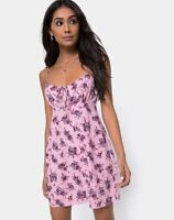MOTEL ROCKS Kumala Slip Dress in Soheila Floral Blush Medium M  (mr42)