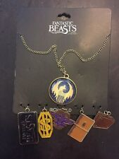 Fantastic Beasts And Where To Find Them Multi Charm Pendant Necklace Set New!