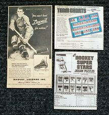 3 VINTAGE HOCKEY ADVERTISEMENTS AD MAURICE ROCKET RICHARD DAOUST / PUZZLES / NHL