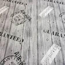 Stoff Meterware pflegeleicht grau Holz Bretter Stempel Planken Preis pro Meter