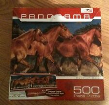 Panorama 500 Piece Puzzle Called Band of Gold