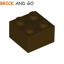 4 x LEGO 3003 Brique (marron foncé) Brick 2x2 (dark brown) NEUF NEW