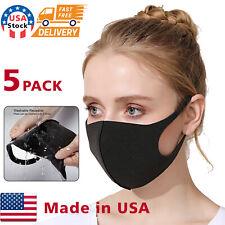 5PACK Face Mask Reusable Washable Covering Masks  Unisex polyurethane Masks