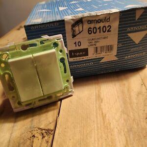 ARNOULD 60102 - Double Interrupteur Va et Vient - 10AX 250V - ESPACE LUMIERE