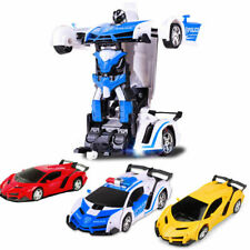 1:18 Transformer RC Robot Car Remote Control 2 IN 1 Kids Boys Toy Xmas Gift NEW