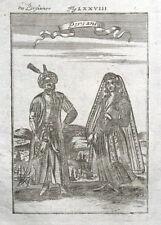 PERSIA, IRAN, PERSIAN COSTUME, Mallet antique print 1719