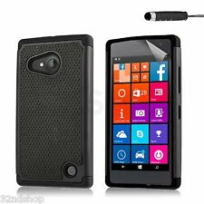 32nd Shock Proof Heavy Duty Defender Case Cover for Microsoft LUMIA 640 Scre