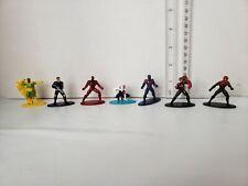 Lot of 7  Marvel Die cast Metal Nano Figure Superhero Mini Figures