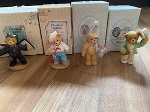 Cherished Teddies Halloween Bundle!!! 4 Figurines Boxed!