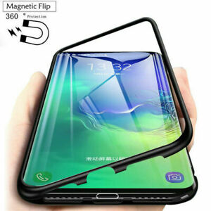 For Samsung Galaxy A10S Note 10 S10 A70 Magnetic Flip Case Tempered Glass Cover