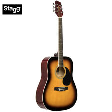 NEW Stagg SA20D Full Size Student Dreadnought Acoustic Guitar - Sunburst