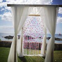 "Per Yards 120"" Wide Voile Chiffon Fabric Sheer Draping Drape Panel Wedding SALE*"