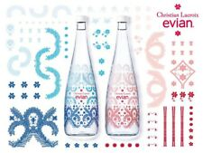 NEW Rare Evian X Christian Lacroix 2016 Limited Edition Glass Water Bottle - Red