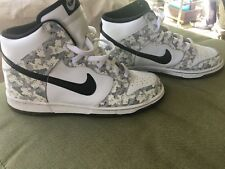 NIKE DUNK HIGH HI ARCTIC SNOW CAMO SHOES SNEAKERS DEADSTOCK RARE SIZE 9 US