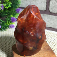 Natural Red Agate torch polished quartz crystal Specimen Healing 204g g8