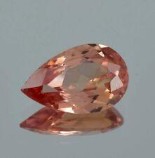 Natural Flawless Ceylon Padparadscha Sapphire Pear Cut Loose Gemstone 3.20 Ct