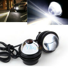 2* White Super Bright Fish Eye DRL CREE LED Projector Fog Daytime Running Lights
