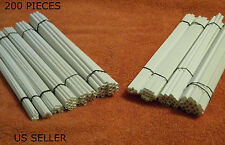 STYRENE TUBES 200 -  ASSORTMENT LOT- 10 SIZES - ROD PIPE 1/8 1/4