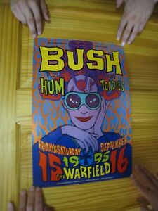 Bush Poster Fillmore Hum Toadies Woman with Glasses September 15 16 1995