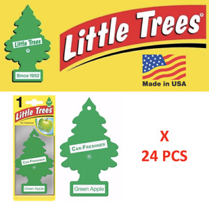 Green Apple Little Trees Freshener  Air Tree 10316 MADE IN USA Pack of 24