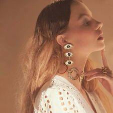 Lady's Retro Style Evil Eye Chain Earring Women's Gold Evil Eye Earrings Jewelry