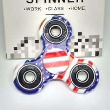 USA Flag Hand Spinner FIDGET Patriotic American Anti Stress Tri Toy USA SELLER