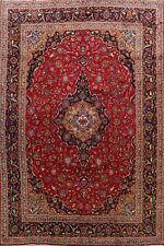 Traditional Hand-Knotted Vintage Floral Ardakan Area Rug Oriental Carpet 10'x13'