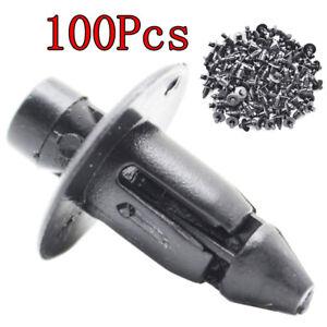 100Pcs 7mm For Toyota Bumper Fender Clips Fastener Rivet Push Pin Clip Retainer