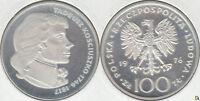 POLONIA - POLSKA. 100 ZLOTYCH DE 1976. PLATA 0.625. (4)