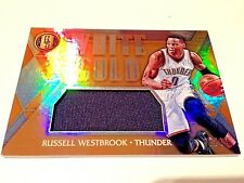 Russell Westbrook 2017 Panini Gold Standard White Gold Refractor GW Jersey #/49