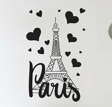 PARIS FRANCE TOUR EIFFEL LOVE Mur Art Autocollant Décoration Murale Autocollant Vinyle