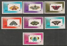 Mongolia 1990 Butterfly Butterflies Fauna Insects Lepke stamp set 7v MNH
