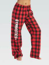 "Nwt Super soft and comfortable red and black flannel Gk â""¢ gymnastics pants Cl"