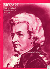 Classical Piano Mozart His Greatest Piano Solos Vol Ii ~ New! Sheet Music