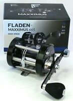 Fladen Maxximus 665 Hi Speed Surf Sea Casting Multiplier Fishing Reel Left Wind